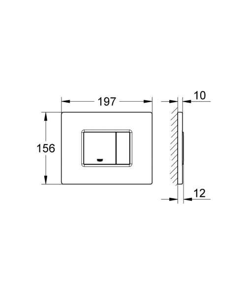 Możliwość zamontowania przycisku Skate 38732SD0 w poziomie.-image_Grohe_38732SD0_5