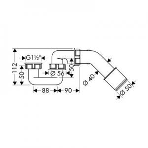 Dane techniczne syfonu Hansgrohe 56373000-image_Hansgrohe_56373000_2