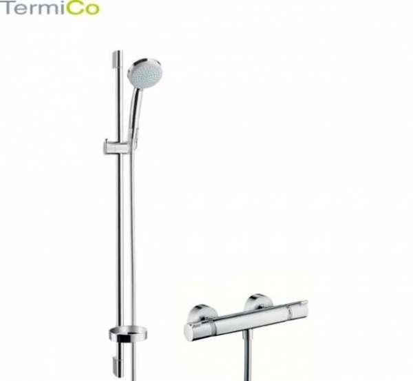 Zestaw prysznicowy z baterią termostatyczna Croma 27033000