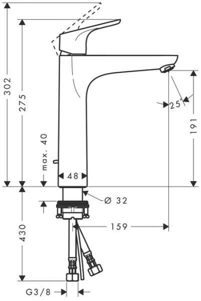 hansgrohe focus e2 umywalkowa bateria 190. Black Bedroom Furniture Sets. Home Design Ideas