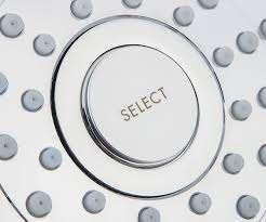 Przycisk Select do zmiany rodzaju strumienia w deszczownicy Hansgrohe Croma E180 26524000-image_Hansgrohe_26524000_9