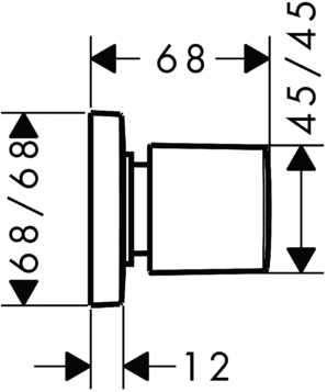 Wymiary techniczne zaworu podtynkowego Hansgrohe PuraVida 15978000-image_Hansgrohe_15978000_4