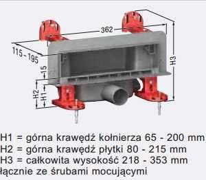Wymiary techniczne odpływu ściennego Kessel scada 48000.01-image_Kessel_48000.01_3