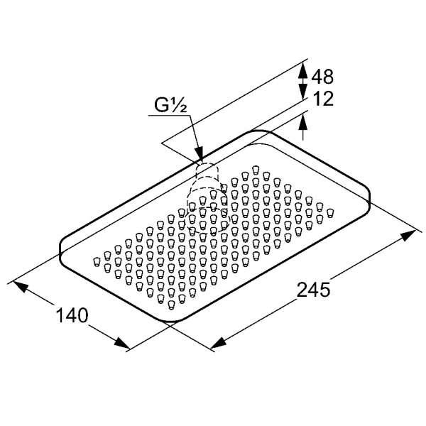 Wymiary techniczne głowicy natrysku Kludi A-QA-image_Kludi_4940205-00_3
