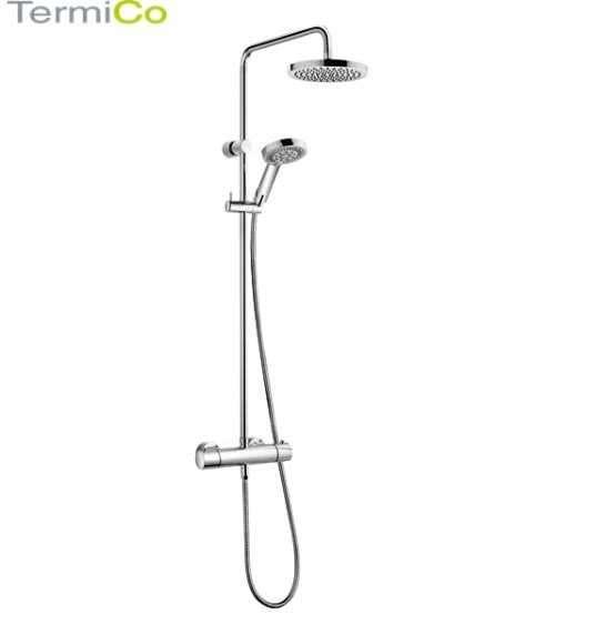 Obrazek natynkowego zestawu prysznicowego termostatycznej baterii prysznicowej ze zintegrowaną deszczownicą Kludi Dualshower 6609505-00.-image_Kludi_6609505-00_4
