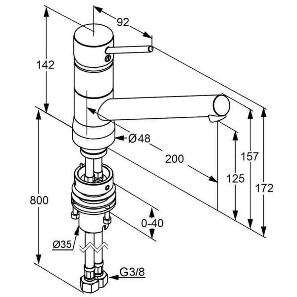 Wymiary techniczne baterii kuchennej Kludi Scope 339380575-image_Kludi_339380575_3