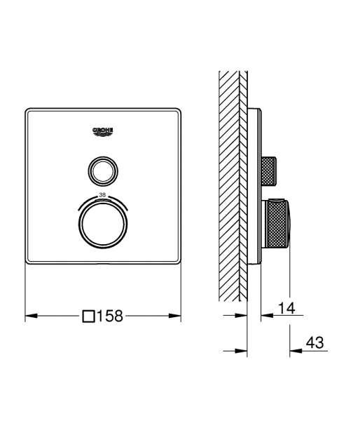 grohe smartcontrol wymiary techniczne 29153LS0-image_Grohe_29153LS0_3
