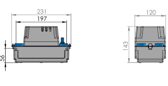 Wymiary techniczne pompki SFA Sanicondens Mini-image_sfa_sanicondens_mini_3