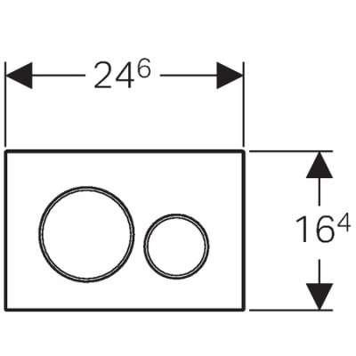 Wymiary techniczne płytki spłukującego GeberitSigma20 115889SN1 -image_Geberit_115.889.SN.1_3