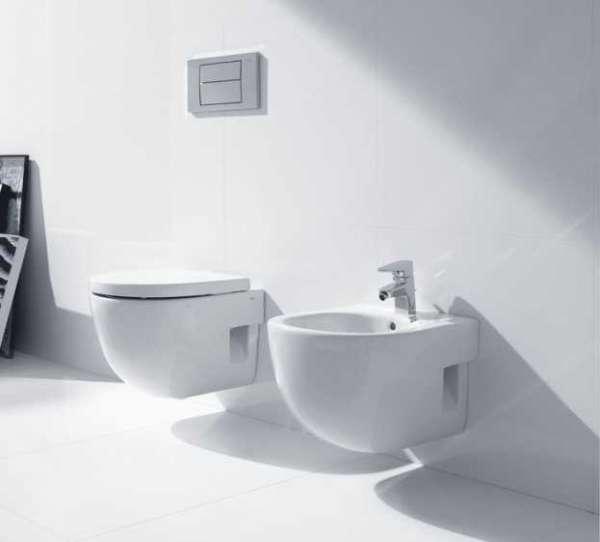 Roca Meridian A346247000 wc z bidetem podwieszanym - przykładowa aranżacja łazienki.-image_Roca_A346247000_3