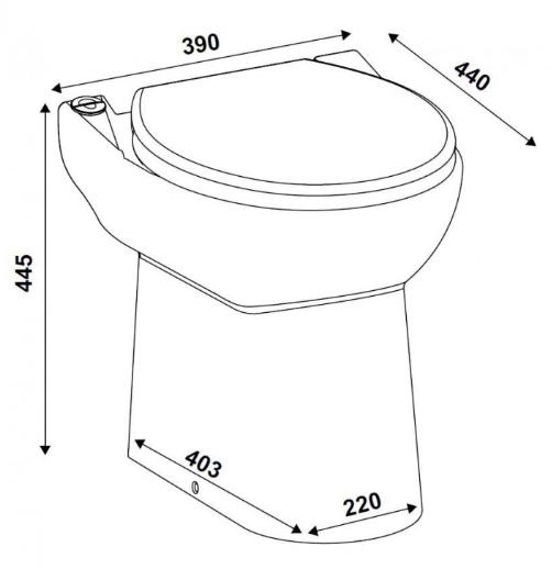 Wymiary techniczne pompy rozdrabniajacej SFA SAnicompact C43 -image_SFA_SFA SANICOMPACT C43_4