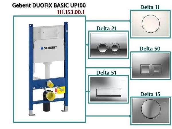 Stelaż podtynkowy Duofix Basic + przyciski delta