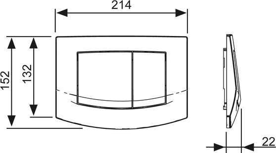 Wymiary techniczne przycisku spłukujacego wc Ambia-image_Tece_9.240.225_4