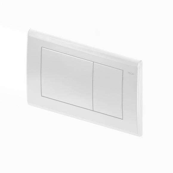 Metalowy przycisk spłukujący do wc Tece Planus w białym macie 9240322.-image_Tece_9.240.322_9