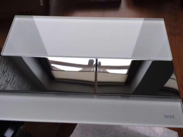Płytka uruchamiająca spłukiwanie Tece Square 9240802 białe szkło/chrom-image_Tece_9.240.802_7