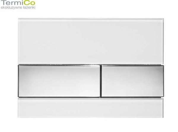 Przycisk do wc TECESquare biały z chromowanymi przyciskami-image_Tece_9.240.802_5