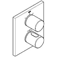 Grohe 19567 000 - termostatyczna bateria wannowa - podtynkowa.-image_Grohe_19567000_6