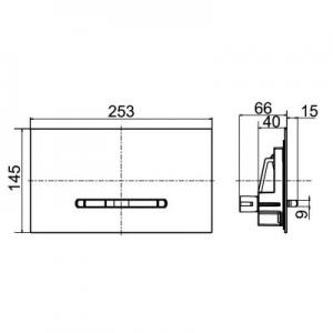 Wymiary techniczne klapki spłukującej Villeroy & Boch 92216168-image_Villeroy & Boch_92216168_2