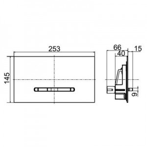 Dane techniczne klawisza wc Villeroy & Boch ViConnect E300 922169AN-image_Villeroy & Boch_922169AN_2