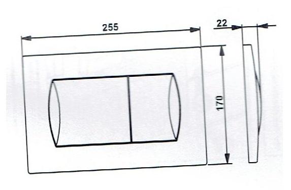 Dane techniczne przycisku spłukujacego Roca Activ-image_Roca_ROCA ACTIVE PACK CHROM_3