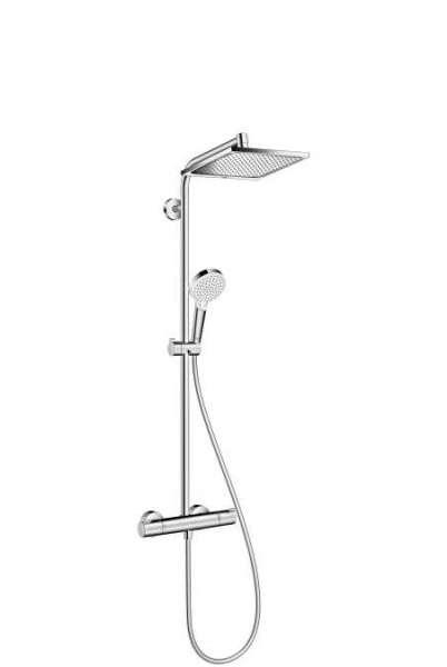 Kolumna prysznicowa z baterią termostatyczną i zintegrowaną kwadratową deszczownicą Hansgrohe Showerpipe Crometta E240 27271000.-image_Hansgrohe_27271000_3