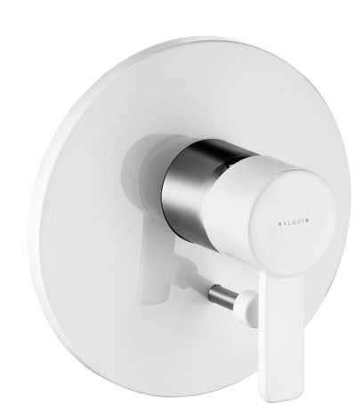 Biała podtynkowa bateria wannowo-prysznicowa Kludi Zenta White 386509175-image_Kludi_386509175_1