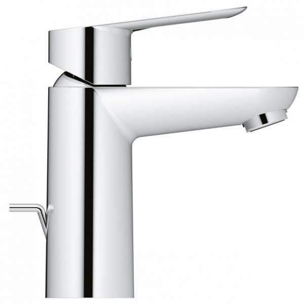 Kran do umywalki Grohe Bauloop 23335000 z korkiem, fotka z profilu