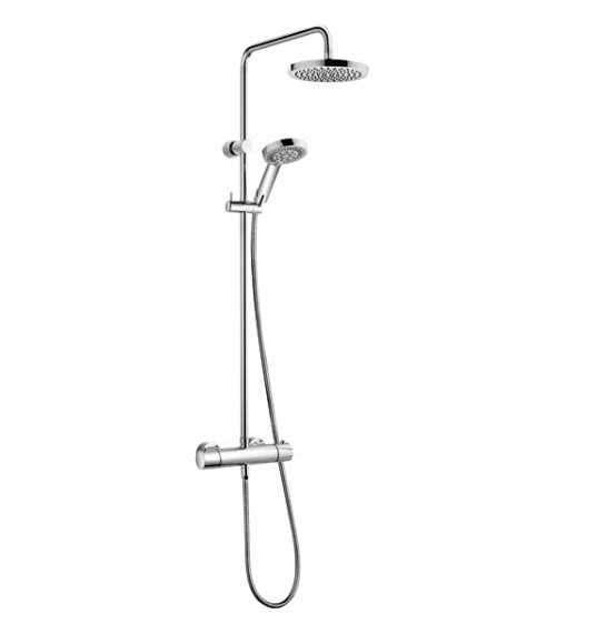 Natynkowy termostatyczny zestaw prysznicowy ze zintegrowaną deszczownicą Kludi Dualshower 660950500.-image_Kludi_6609505-00_1