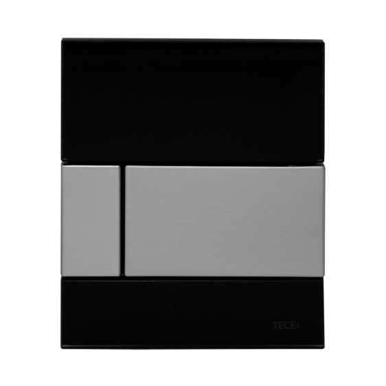 Szklany przycisk pisuarowy Tece Square 9.242.807 wersja czarny/chrom.-image_Tece_9.242.807_1