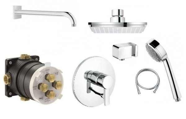 Kludi Zenta zestaw prysznicowy z deszczownicą Grohe Euphoria 15cm KL/ZENTA/150-image_Kludi / Grohe_KL/ZENTA/150_1