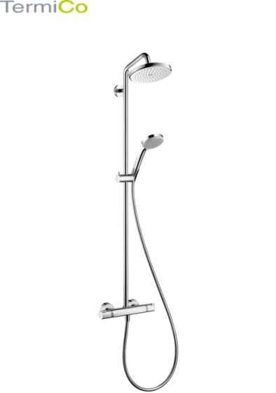 komplet prysznicowy hansgrohe showerpipe coma 220. Black Bedroom Furniture Sets. Home Design Ideas